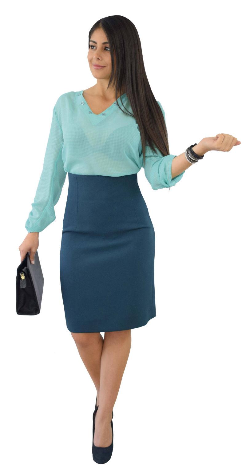 Falda Talle Alto Con Blusa - Ken Chad Consulting Ltd